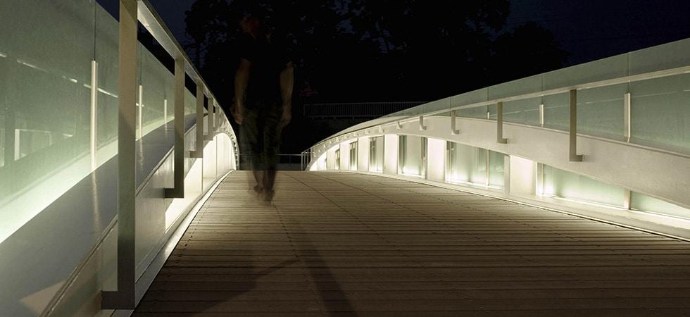 Pasarela, Passarel·la, footbridge, Les fontetes, Cerdanyola, Barcelona, Steel structure, estructura metalica, estructura metalica, arco, arc