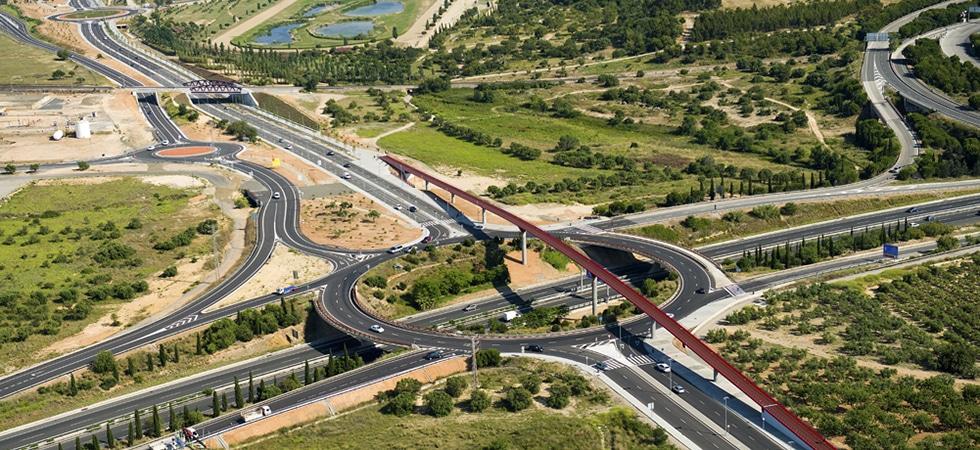 Vila-seca, Raval de la Mar, TV-3148, La Pineda, Tarragona, Rotonda, Passarel·la, Pasarela, Footbridge